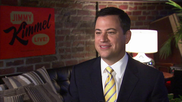 "<div class=""meta image-caption""><div class=""origin-logo origin-image ""><span></span></div><span class=""caption-text"">Jimmy Kimmel turns 45 on Nov. 13, 2012. The television host and comedian is known for his work in the Comedy Central show 'The Man Show,' but is currently the host of his late-night talk show 'Jimmy Kimmel Live!' The comedian was chosen to entertain Whitehouse Correspondents at the 98th annual dinner on April 28, 2012.Pictured: Jimmy Kimmel talks to OTRC.com in a September 2012 interview. (OTRC)</span></div>"