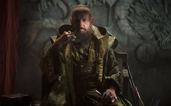 The Mandarin (Ben Kingsley) appears in a scene...