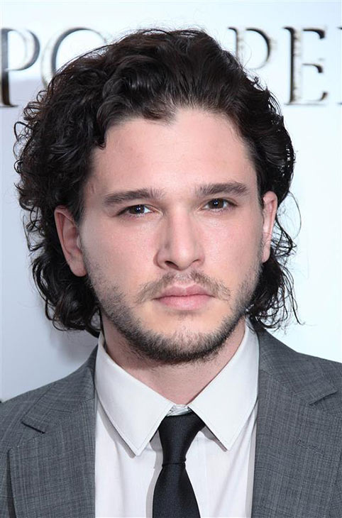 The &#39;Be-Mesmerized-By-The-Black-Onyx-of-the-Deepest-Part-of-My-Soul&#39; stare: Kit Harington appears at a screening of &#39;Pompeii&#39; in London on April 28, 2014. <span class=meta>(ABACA &#47; Startraksphoto.com)</span>