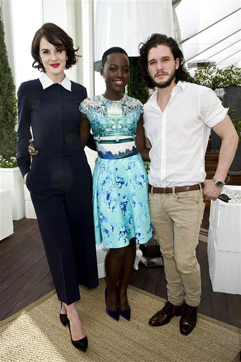 The &#39;Jon-Snow-Knows-Nothing-And-Holy-Crap-He&#39;s-Standing-Next-To-Lady-Mary-Crawley-And-Lupita&#39; stare. &#40;&#39;Game of Thrones&#39; star Kit Harington appears with &#39;Downton Abbey&#39; actress Michelle Dockery and then-Oscar nominee &#40;later winner&#41; Lupita Nyong&#39;o of the movie &#39;12 Years A Slave&#39; at a Dujour Magazine event honoring the latter actress in Los Angeles on Jan. 11, 2014. <span class=meta>(Justin Campbell &#47; Startraksphoto.com)</span>