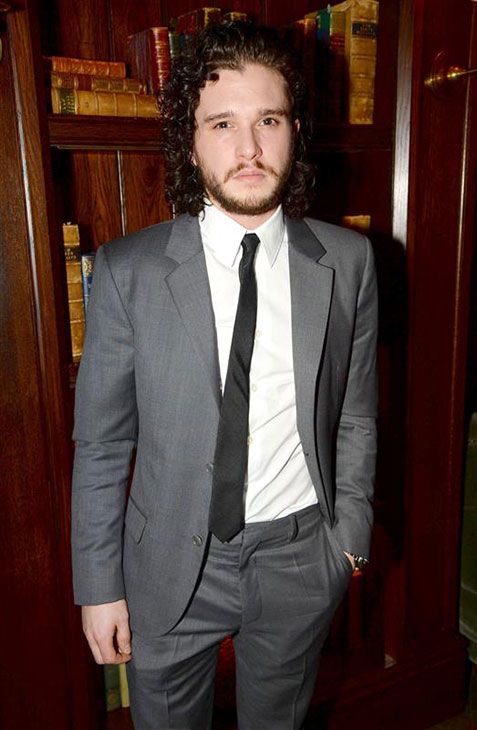 The &#39;Jon-Snow-Knows-Nothing-In-This-Case-That-He-Looks-Fantastic-In-Gray&#39; stare. &#40;&#39;Game of Thrones&#39; star Kit Harington appears at an Esquire magazine party promoting  London Collections&#39; Men&#39;s Fall-Winter 2014 collection in London on Jan. 6, 2014. <span class=meta>( Richard Young &#47; Rex &#47; Startraksphoto.com)</span>