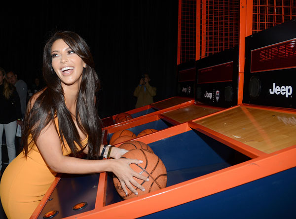 Kim Kardashian attends the launch of the 2012 Jeep Wrangler Unlimited Altitude Edition at the Los Angeles Center Studios on April 22, 2012.