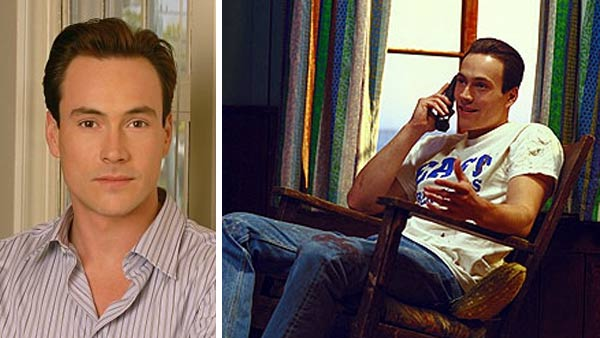 Chris Klein appears in a scene from 'American Pie 2' in 2001. / Chris Klein in a promotional photo for 'Welcome to the Captain.'
