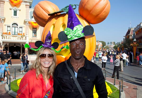 Heidi Klum and Seal celebrate Halloween Time at Disneyland in Anaheim, California on Sept. 29, 2011.
