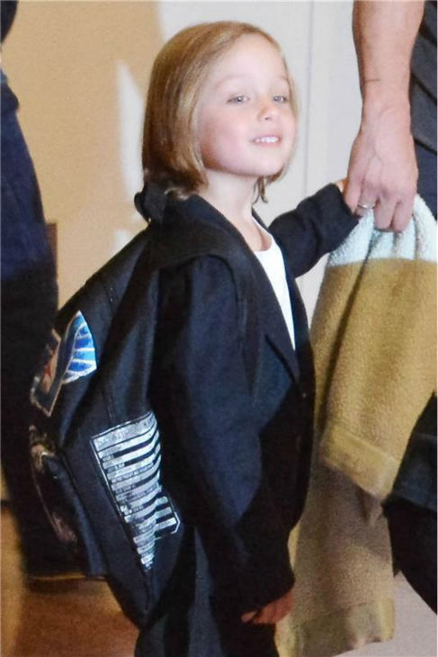 Knox Jolie-Pitt, the 5-year-old son of Angelina Jolie and Brad Pitt, is seen at Tokyo International Airport on July 28, 2013. The actors also arrived with two more of their six children -- Pax, 9, and his twin sister Vivienne, on the trip. <span class=meta>(Aflo &#47; startraksphoto.com)</span>