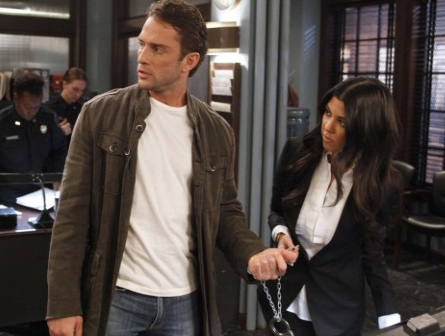 Kourtney Kardashian appears alongside David Fumero in a scene from a March 28, 2011 episode of the ABC soap opera &#39;One Life To Live.&#39; <span class=meta>(ABC)</span>