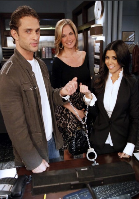 Kourtney Kardashian appears alongside David Fumero and Kassie DePaiva in a scene from a March 28, 2011 episode of the ABC soap opera &#39;One Life To Live.&#39; <span class=meta>(ABC)</span>