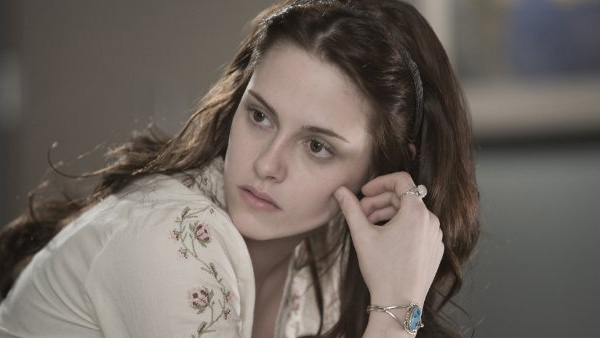 A photo of Kristen Stewart, who plays Bella,...