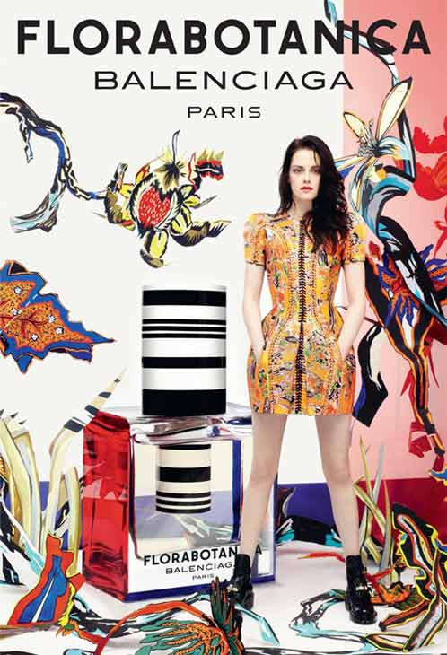 Kristen Stewart appears in an ad for Balenciagas Florabotanica perfume, which was released on July 2, 2012. - Provided courtesy of Balenciaga