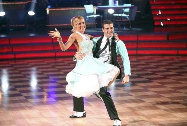 Kristin Cavallari returned to the ballroom for a final performance on 'Dancing With The Stars: The Results Show,' on Tuesday, November 22, 2011. She appears here with show partner Mark Ballas.