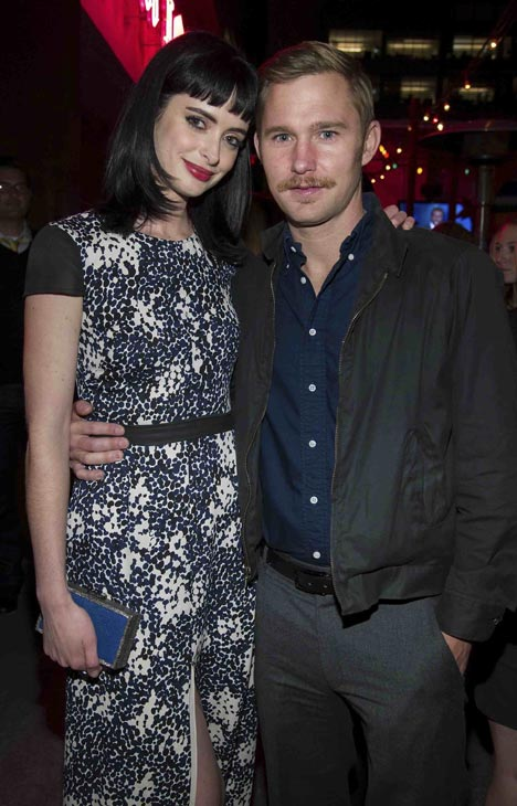 "<div class=""meta ""><span class=""caption-text "">Krysten Ritter and Brian Geraghty attend the after party of the premiere of 'L!fe Happens' at Harry Morton's Pink Taco in Century City, California on April 2, 2012. The two co-star in a different 2012 movie - 'Refuge.' Ritter is wearing a blue and white dotted Jenni Kayne Spring 2012 dress with black cap sleeves, a blue Jimmy Choo 'Cameo' clutch and Swarovski earrings (WireImage / John Sciulli)</span></div>"