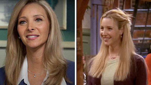 Lisa Kudrow appears in a promotional photo for her online series 'Web Therapy,' which is set to air on the Showtime cable television network in July 2011. / Lisa Kudrow appears in a scene from 'Friends.'
