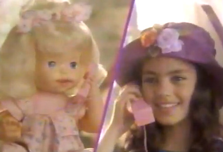 "<div class=""meta ""><span class=""caption-text "">Between the ages of 9 and 14, Kunis appeared in about 15 commercials and multiple television shows. (Pictured: Mila Kunis appears in an undated commercial for Mattel's Telephone Tammy doll.) (Mattel)</span></div>"