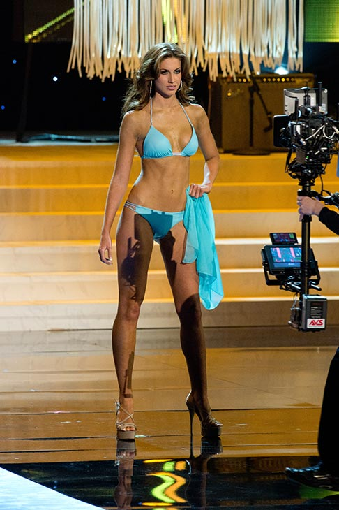 Miss Alabama USA 2012 Katherine Webb, from Phenix City, appears in a bikini at the Miss USA 2012 pageant at the Planet Hollywood Resort and Casino Theatre for the Performing Arts in Las Vegas, Nevada on June 3, 2012.