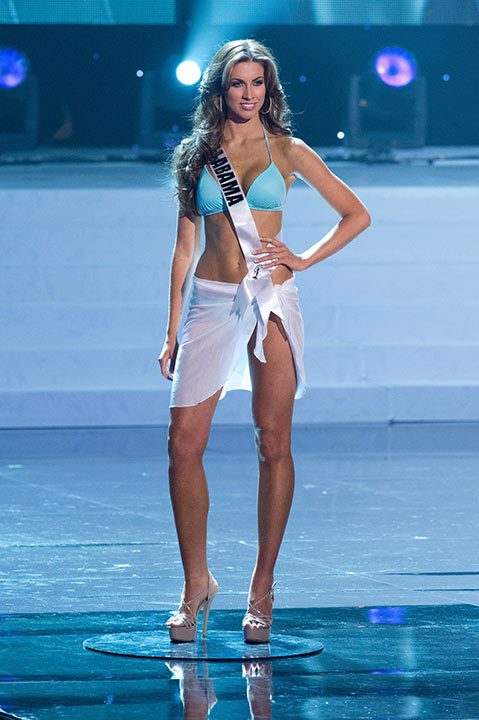 Miss Alabama USA 2012 Katherine Webb, from Phenix City, appears in a bikini at the Miss USA 2012 pageant at the Planet Hollywood Resort and Casino Theatre for the Performing Arts in Las Vegas, Nevada on June 3, 2012. Her swimsuit is by Kooey Australia and her heels are by Chinese Laundry. <span class=meta>(Richard Harbaugh &#47; Miss Universe Organization L.P.)</span>