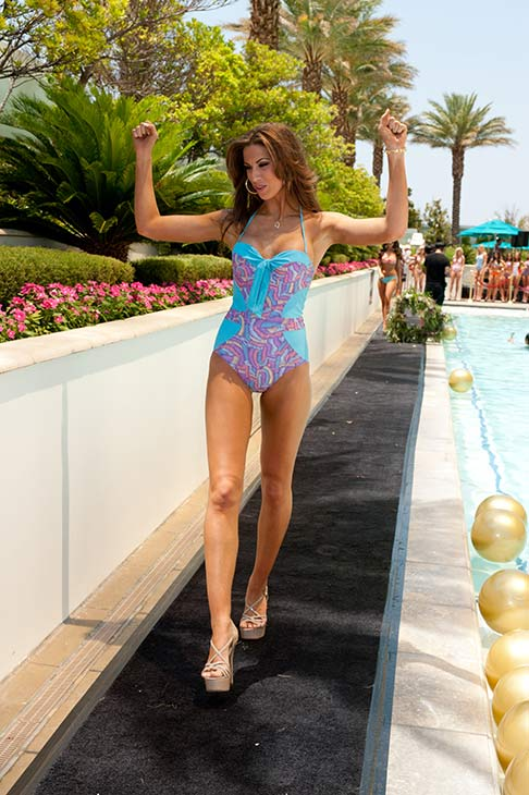 Miss Alabama USA 2012, Katherine Webb, walks the runway in her Kooey Australia Swimwear during the Kooey Australia Swimwear Fashion Show featuring the Miss USA 2012 Contestants at the Trump Tower in Las Vegas, Nevada on  May 23, 2012.