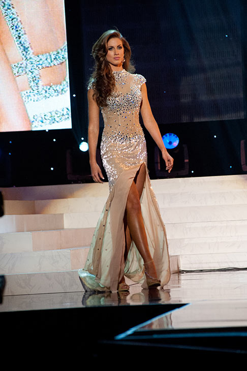 "<div class=""meta ""><span class=""caption-text "">Miss Alabama USA 2012 Katherine Webb, from Phenix City, poses in an evening gown at the Miss USA 2012 pageant at the Planet Hollywood Resort and Casino Theatre for the Performing Arts in Las Vegas, Nevada on June 3, 2012. (Patrick Prather / Miss Universe Organization L.P.)</span></div>"