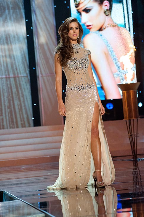 Miss Alabama USA 2012 Katherine Webb, from Phenix City, poses in an evening gown at the Miss USA 2012 pageant at the Planet Hollywood Resort and Casino Theatre for the Performing Arts in Las Vegas, Nevada on June 3, 2012. <span class=meta>(Patrick Prather &#47; Miss Universe Organization L.P.)</span>