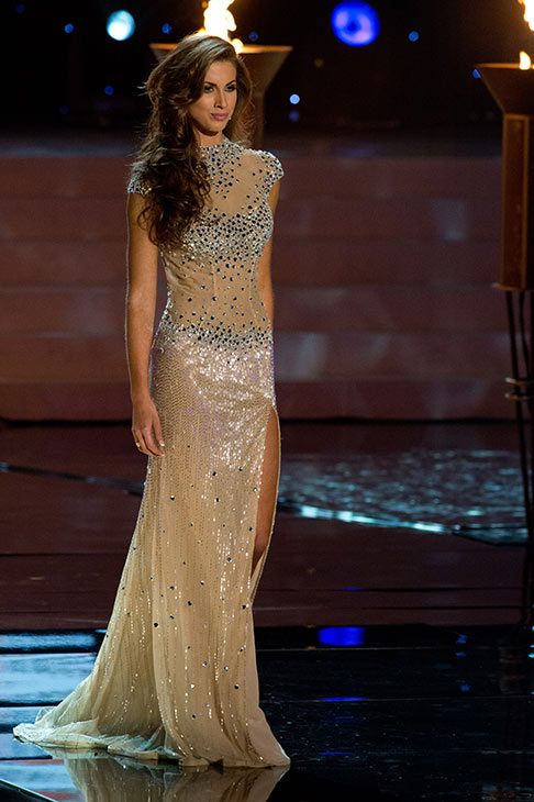 Miss Alabama USA 2012 Katherine Webb, from Phenix City, poses in an evening gown at the Miss USA 2012 pageant at the Planet Hollywood Resort and Casino Theatre for the Performing Arts in Las Vegas, Nevada on June 3, 2012. <span class=meta>(Richard Harbaugh &#47; Miss Universe Organization L.P.)</span>