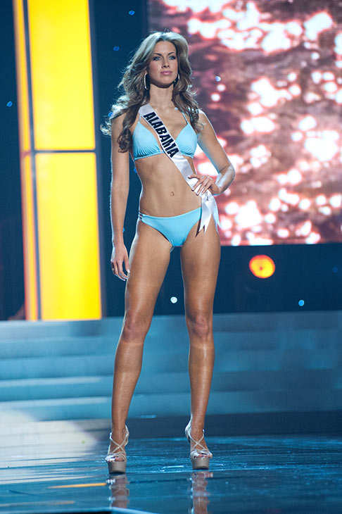 "<div class=""meta ""><span class=""caption-text "">Miss Alabama USA 2012 Katherine Webb, from Phenix City, appears in a bikini at a rehearsal for the Miss USA 2012 pageant at the Planet Hollywood Resort and Casino Theatre for the Performing Arts in Las Vegas, Nevada on June 2, 2012. Her swimsuit is by Kooey Australia and her heels are by Chinese Laundry. (Patrick Prather / Miss Universe Organization L.P.)</span></div>"