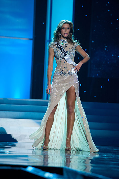 Miss Alabama USA 2012 Katherine Webb, from Phenix City, appears in an evening gown at a rehearsal for the Miss USA 2012 pageant at the Planet Hollywood Resort and Casino Theatre for the Performing Arts in Las Vegas, Nevada on June 2, 2012. <span class=meta>(Patrick Prather &#47; Miss Universe Organization L.P.)</span>