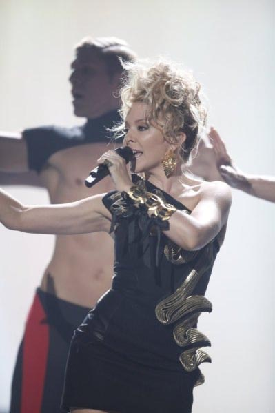Kylie Minogue performing on 'America's Got...