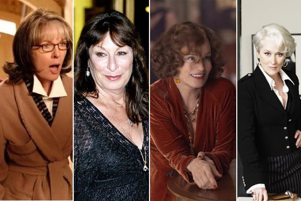 Diane Keaton appears in a scene from 'The Family Stone.'  / Anjelica Huston appears in a photo at the Met Opera. / Jessica Lange appears in a photo from the film 'Grey Gardens.' / Meryl Streep appears in a scene from 'The Devil Wears Prada.'