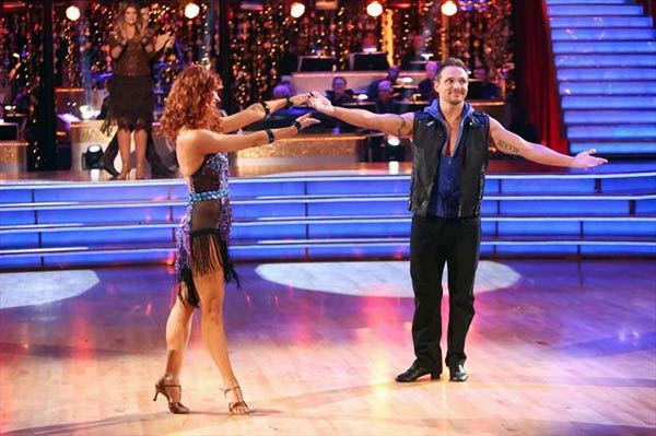 "<div class=""meta ""><span class=""caption-text "">Former member of the boy band 98 Degrees, Drew Lachey and his partner Anna Trebunskaya react to being eliminated on 'Dancing With The Stars: The Results Show' on Tuesday, Oct. 9, 2012.  The pair received 24 out of 30 points from the judges for their Cha Cha Cha on 'Dancing With The Stars: All-Stars,' which aired on October 8, 2012.  (ABC Photo)</span></div>"