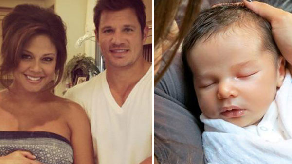 Vanessa and Nick Lachey appear in a photo posted...