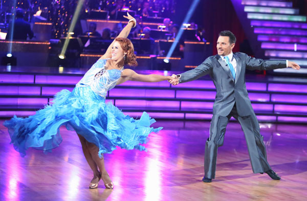 Former member of the boy band 98 Degrees, Drew Lachey and his partner Anna Trebunskaya received 21.5 out of 30 points from the judges for their Fox Trot on the season premiere of &#39;Dancing With The Stars: All-Stars,&#39; which aired on September 24, 2012.  <span class=meta>(ABC Photo&#47; Adam Taylor)</span>