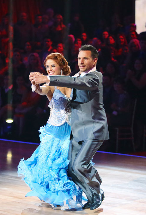"<div class=""meta ""><span class=""caption-text "">Former member of the boy band 98 Degrees, Drew Lachey and his partner Anna Trebunskaya received 21.5 out of 30 points from the judges for their Fox Trot on the season premiere of 'Dancing With The Stars: All-Stars,' which aired on September 24, 2012.  (ABC Photo/ Adam Taylor)</span></div>"