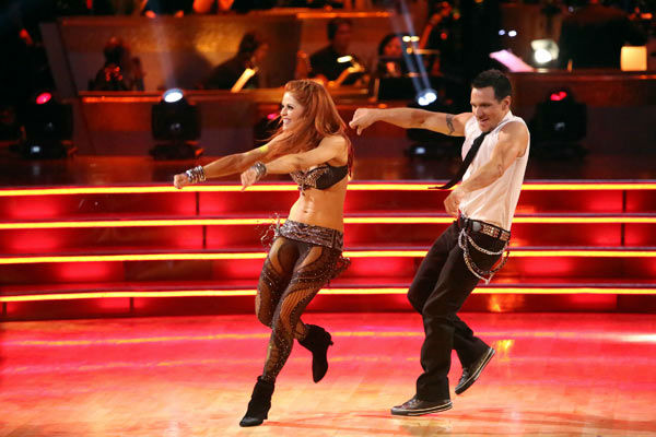 Former member of the boy band 98 Degrees, Drew Lachey and his partner Anna Trebunskaya received 22.5 out of 30 points from the judges for their Jive on week two of &#39;Dancing With The Stars: All-Stars,&#39; which aired on Oct. 1, 2012. <span class=meta>(ABC &#47; Adam Taylor)</span>