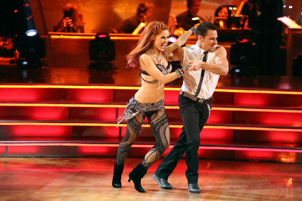 "<div class=""meta ""><span class=""caption-text "">Former member of the boy band 98 Degrees, Drew Lachey and his partner Anna Trebunskaya received 22.5 out of 30 points from the judges for their Jive on week two of 'Dancing With The Stars: All-Stars,' which aired on Oct. 1, 2012. (ABC / Adam Taylor)</span></div>"