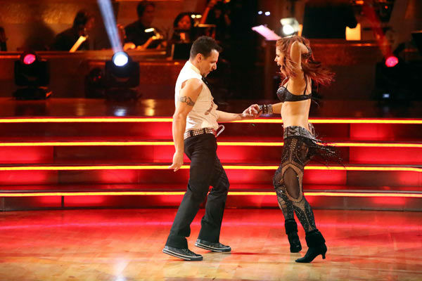 "<div class=""meta image-caption""><div class=""origin-logo origin-image ""><span></span></div><span class=""caption-text"">Former member of the boy band 98 Degrees, Drew Lachey and his partner Anna Trebunskaya received 22.5 out of 30 points from the judges for their Jive on week two of 'Dancing With The Stars: All-Stars,' which aired on Oct. 1, 2012. (ABC / Adam Taylor)</span></div>"