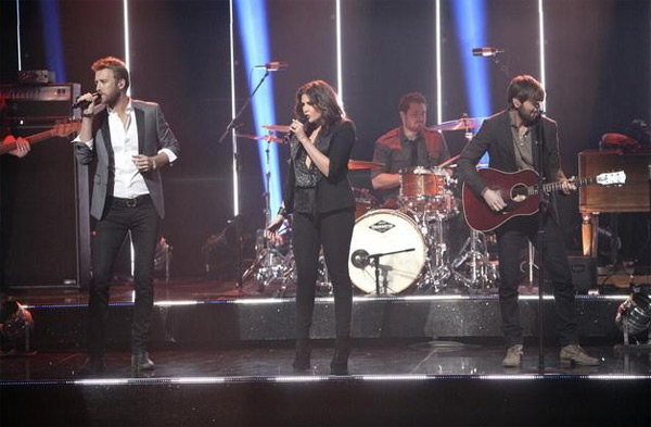 Lady Antebellum had the final ballroom music performance for season 13 of 'Dancing With The Stars: The Results Show,' on Tuesday, November 22, 2011.
