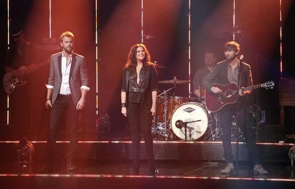 Lady Antebellum had the final ballroom music performance for season 13 of &#39;Dancing With The Stars: The Results Show,&#39; on Tuesday, November 22, 2011. The group had the television debut of their single &#39;Dancing Away with My Heart,&#39; which is off their new album &#39;Own the Night.&#39; The country music band was accompanied by Troupe members Sasha, Teddy, Kiki, Sharna, Dasha and Oksana on the dance floor. The group also performed their hit song &#39;Need You Now,&#39; accompanied by &#39;Dancing With The Stars&#39; pros Kym, Dmitry, Peta and Val.  <span class=meta>(ABC &#47; Adam Taylor)</span>