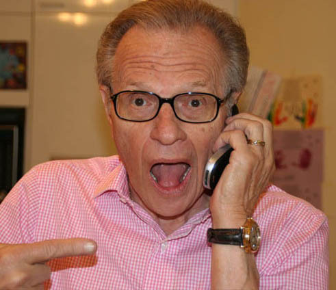 &#39;Halloween. Cannon is going out as a ghost sure to scare Beverly Hills. Chance is going as a baseball. I think I&#39;ll go as Larry King,&#39; television personality Larry King Tweeted on Oct. 31, 2011, referring to his children. <span class=meta>(https:&#47;&#47;twitter.com&#47;kingsthings)</span>