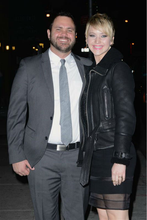 Jennifer Lawrence poses with older brother Ben near the Ed Sullivan Theatre in New York, where she taped an interview for &#39;The Late Show with David Letterman,&#39; on Nov. 20, 2013. <span class=meta>(Humberto Carreno &#47; Startraksphoto.com)</span>