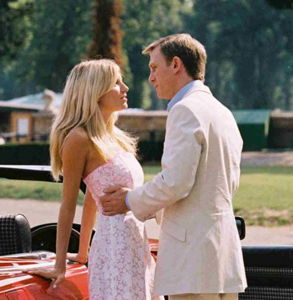 Pictured: Sienna Miller and Daniel Craig appear in a scene from the 2004 film 'Layer Cake.'