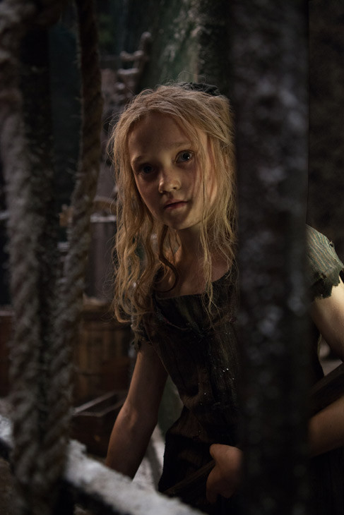 Isabelle Allen appears as young Cosette in a...