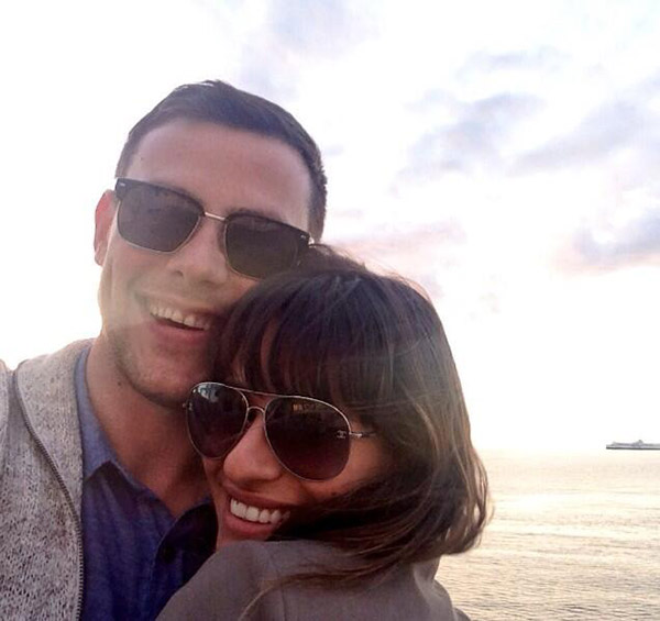 Lea Michele posted this photo on Twitter on Monday, July 29, 2013, with a message to fans regarding the death of her boyfriend, Cory Monteith.