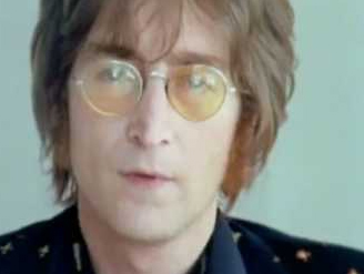 John Lennon appears in the music video for his...