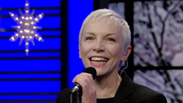 "<div class=""meta ""><span class=""caption-text "">Annie Lennox turns 58 on Dec. 25, 2012. The singer-songwriter and political activist is known for her music career with songs such as 'Walking on Broken Glass' and 'Into The West.'Pictured: Annie Lennox performs on 'Live With Regis and Kelly' on Dec. 14, 2010. (ABC)</span></div>"