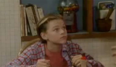 Leonardo DiCaprio appears in a scene from 'Growing Pains.'