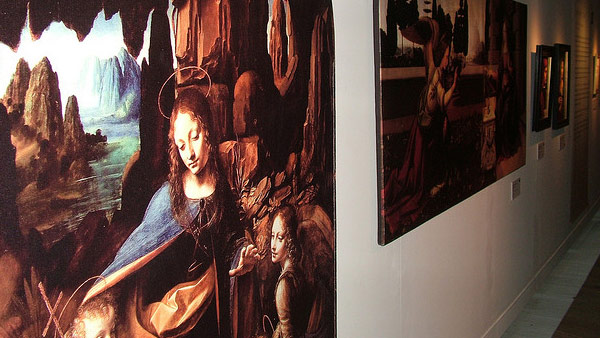 A photo of artwork by Leonardo DaVinci featured...