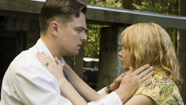 Leonardo DiCaprio appears alongside Michelle Williams in the 2010 film 'Shutter Island.'