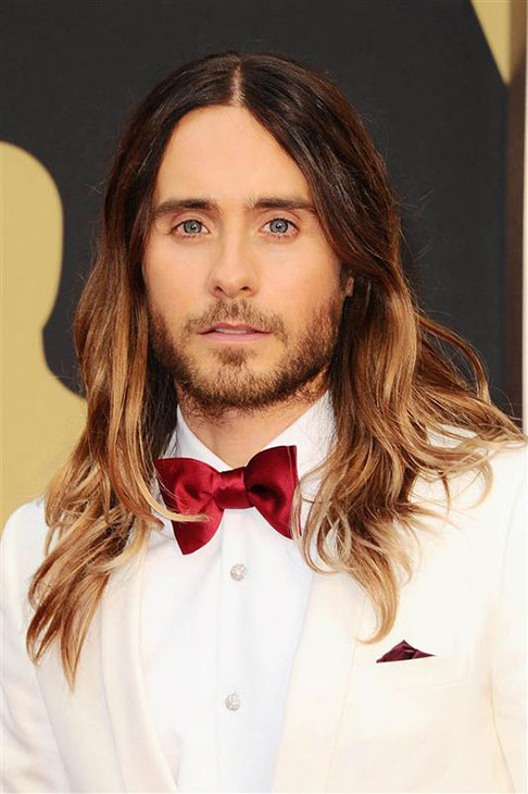 The &#39;I-I&#39;m-Going-To-Win-An-Oscar-Tonight&#39; stare: Jared Leto appears on the red carpet at the 2014 Oscars in Hollywood, California on March 2, 2014. He won the award for Best Supporting Actor for his role as Rayon, a transgender woman and HIV-positive patient, in &#39;Dallas Buyers Club.&#39; Check out more details and watch VIDEOS of Jared Leto on the red carpet and speaking and joking with reporters backstage.&#41; <span class=meta>(Kyle Rover &#47; Startraksphotos.com)</span>