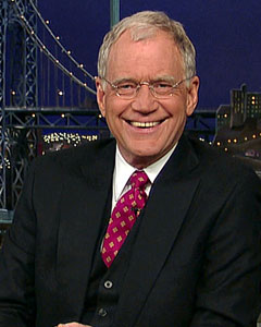David Letterman started his career as a radio talk show host and made his television debut as a weatherman for a local Indianapolis TV station. While giving the weather, Letterman made sure to crack a couple of jokes, such as describing hail stones as &#39;the size of canned hams.&#39;  <span class=meta>(CBS Entertainment)</span>