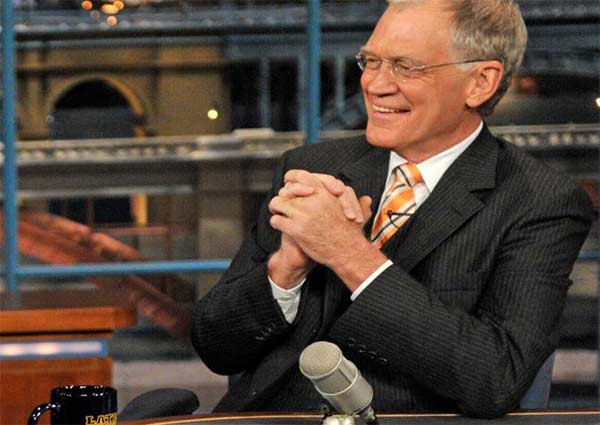 David Letterman appears in a scene from his show...