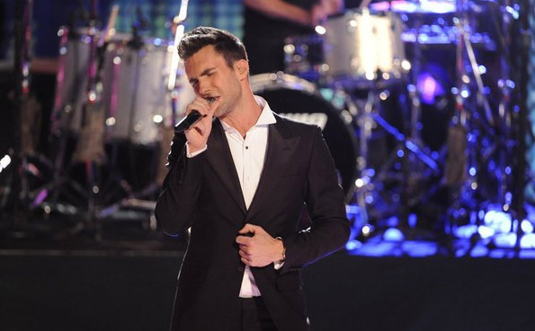 Adam Levine appears in a still 'The Voice' where...